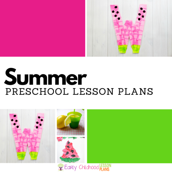 cover image for preschool summer lesson plans