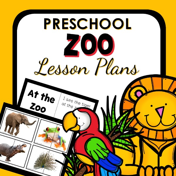 cover image for preschool zoo lesson plans
