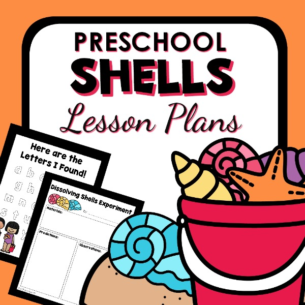 cover image for preschool shells lesson plan