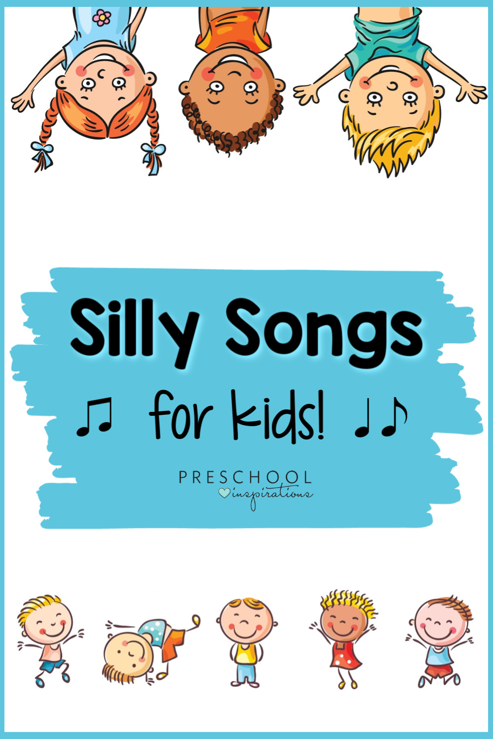 Silly songs for kids are great for stress relief, brain breaks, behavior management, or when you just need a good giggle! These fun songs for preschoolers and kids will have them smiling in no time - maybe even you, too!