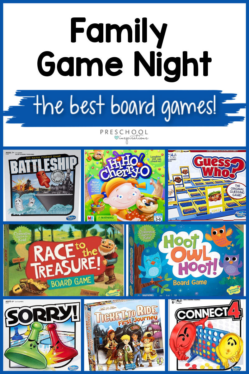 Find a new favorite board game for family game night! Includes games for kids, classic board games for you to rediscover, and board games specifically for preschoolers!