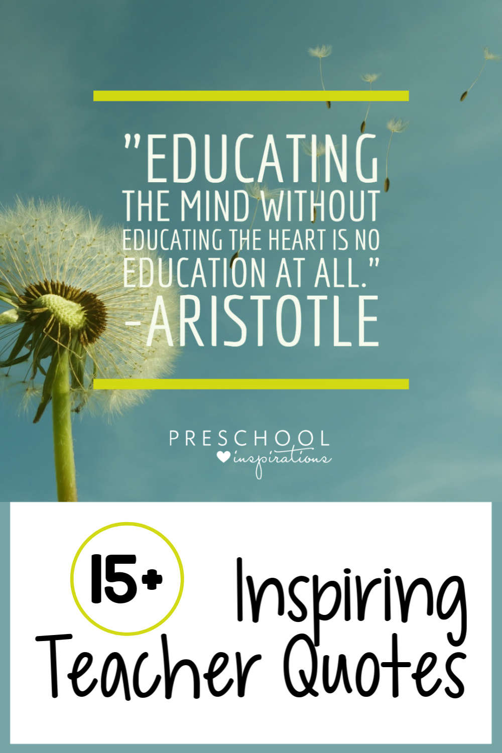 Inspiring Teacher Quotes Preschool Inspirations