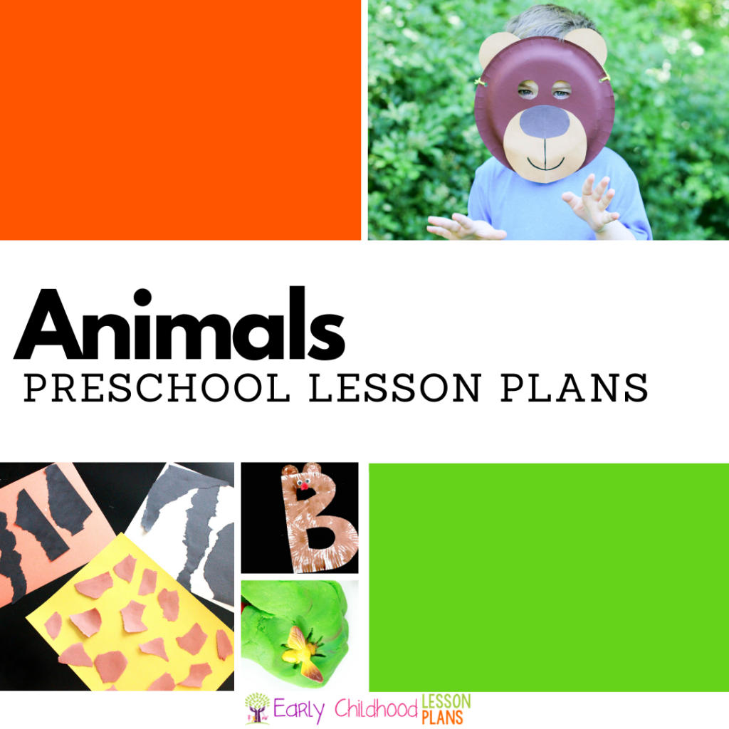 cover image for preschool animals lesson plans