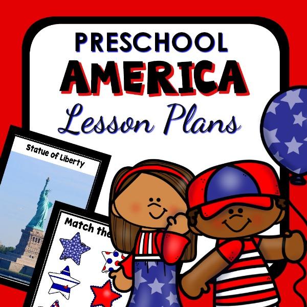 cover image for preschool america lesson plans