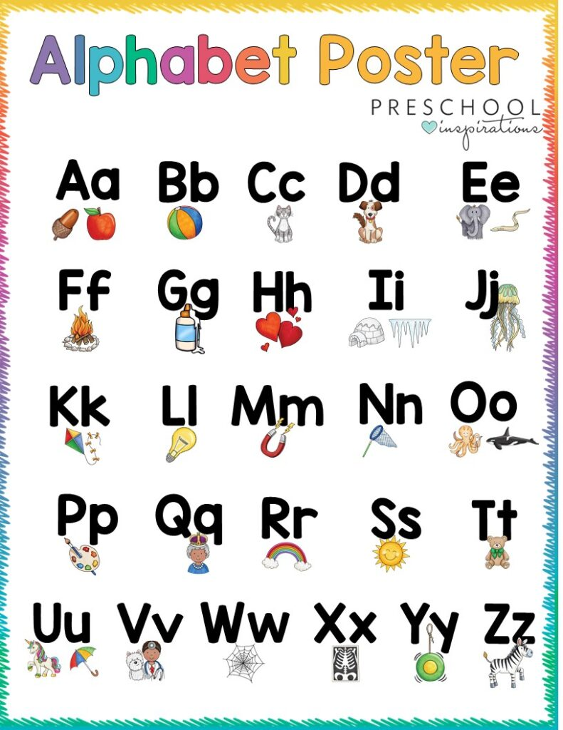 Alphabet poster available for download