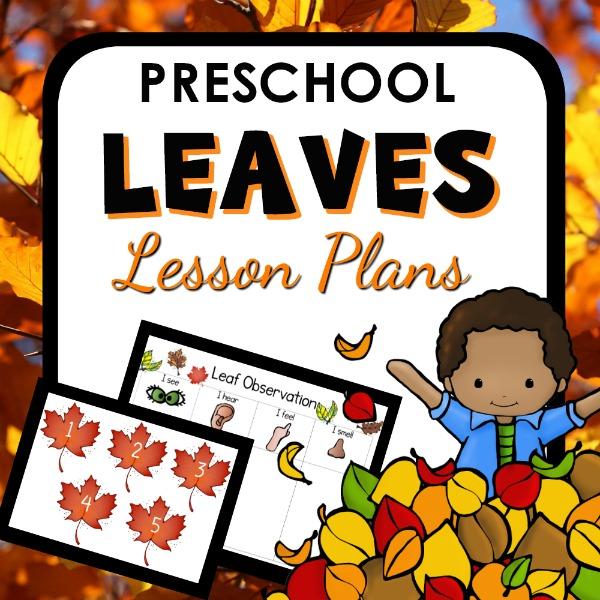 cover image for Preschool Leaves Lesson plan