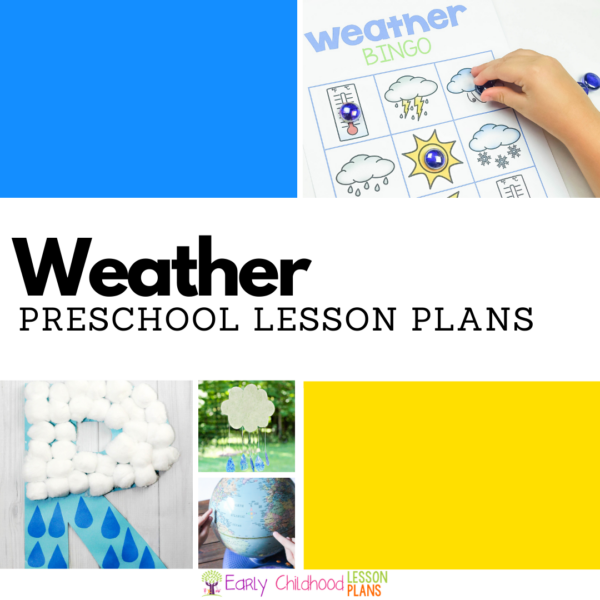 cover image for preschool weather lesson plans