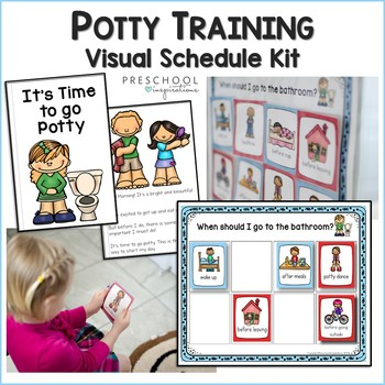 cover image for the potty training visual schedule kit