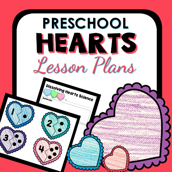 cover image for Preschool Hearts Lesson Plans