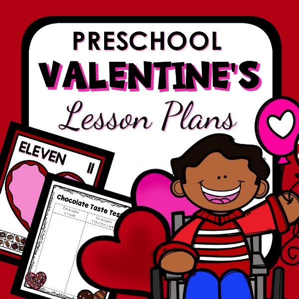 cover image for Preschool Valentine's Lesson Plans