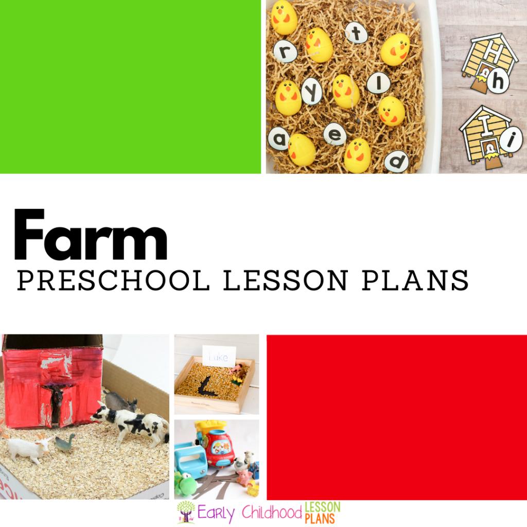 Cover image for Preschool Farm Lesson Plans