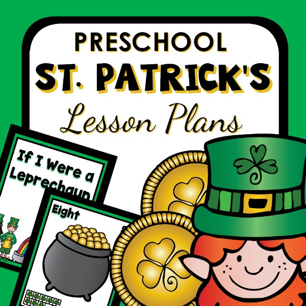 cover image for preschool lesson plans for St. Patrick's Day