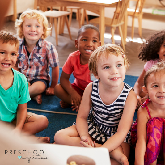 children listen excitedly during story time