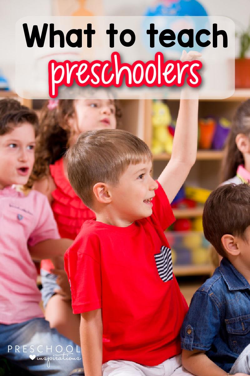 pinnable image of a preschool boy raising his hand