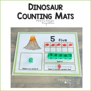 preview image for dinosaur counting mats