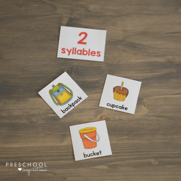 printable cards to teach counting syllables in words