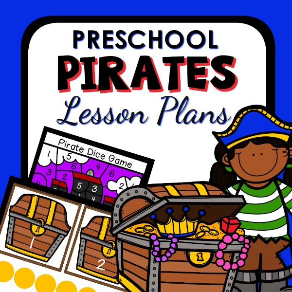 cover image for pirate lesson plans for preschool