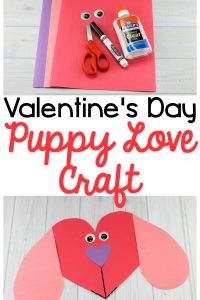 Puppy Love Preschool Heart Craft to Make this Valentine's Day